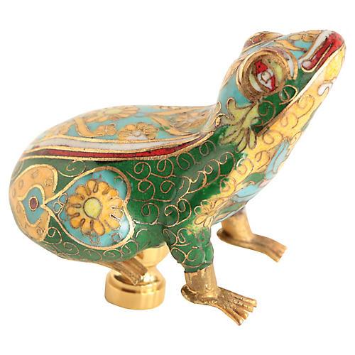 Cloisonné Frog Lamp Finial