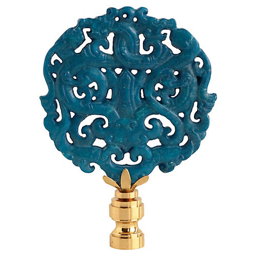 Asian Carved Stone Lamp Finial