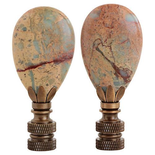 Snakeskin Jasper Lamp Finials