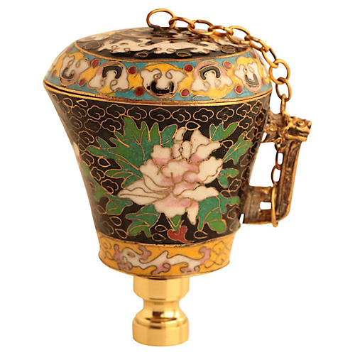 Chinese Cloisonné Vessel Lamp Finial