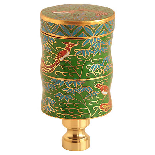 Chinese Cloisonné Lamp Finial
