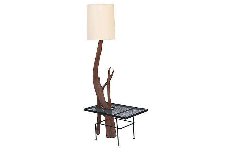 Monumental Driftwood Floor Lamp