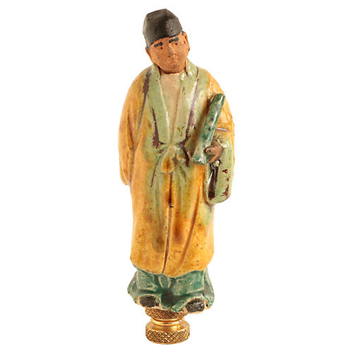 Chinese Figural Lamp Finial
