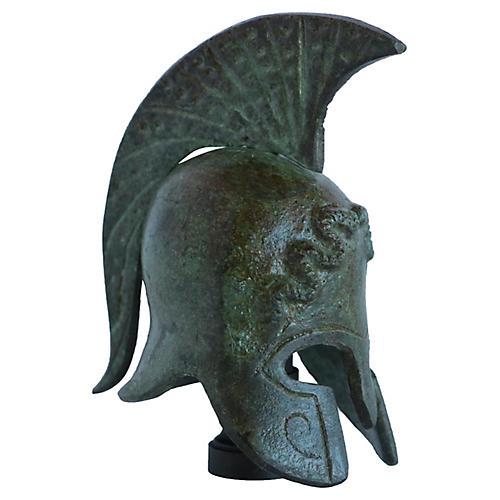 Verdigris Helmet Lamp Finial