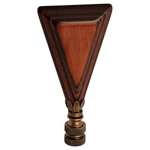 Layered Wood Grain Lamp Finial