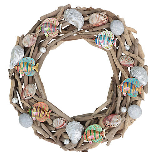 Driftwood Reef Christmas Wreath