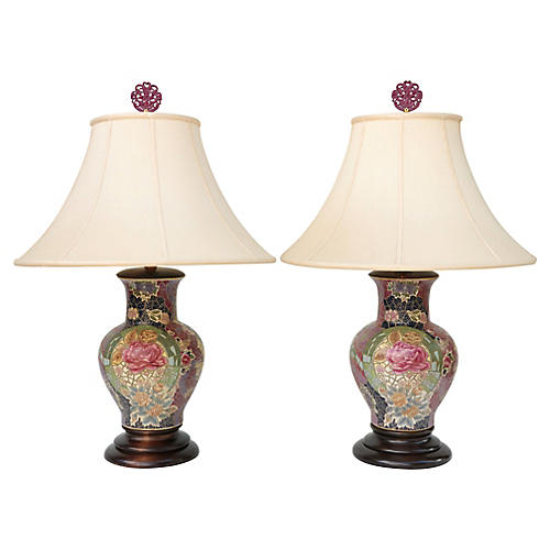 Frederick Cooper Mosaic Table Lamps