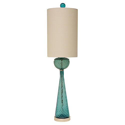 Empoli Diamond Optic Glass Table Lamp