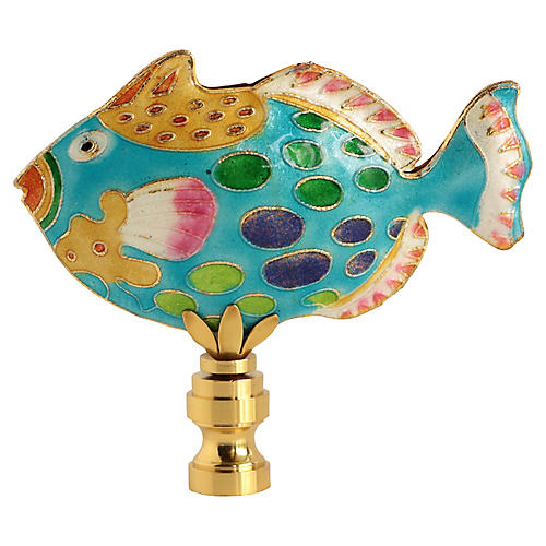 Spotted Reef Fish Lamp Finial