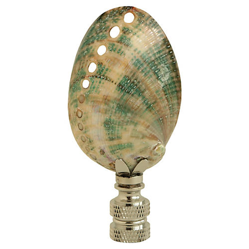 Teal Abalone Shell Lamp Finial