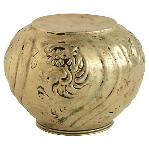 Antique Repoussé Silver Lamp Finial