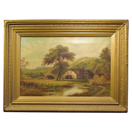 Oil on Canvas by Octavius T. Clark