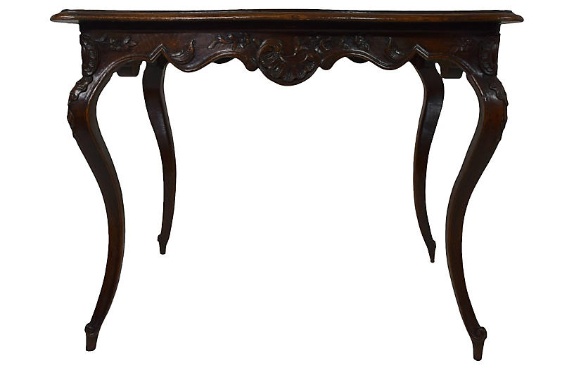 19th-C. French Carved Table