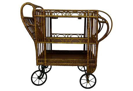 Bamboo & Oak Bar Cart