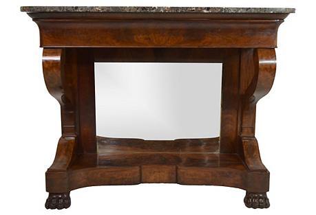 19th-C. French Mahogany Pier Table