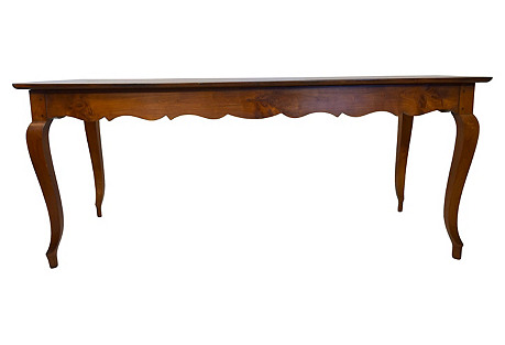 19th-C. French Country Cherry Farm Table