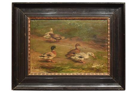 19th-C. Ducks by Carl Suhrlandt
