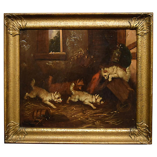 Terriers on the Hunt, George Armfield