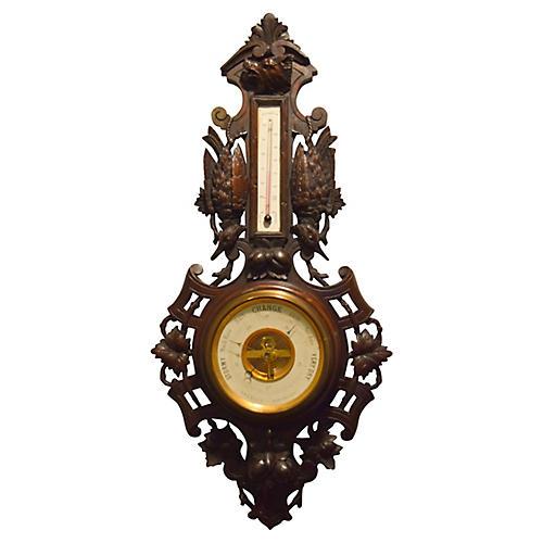 Black Forest Carved Barometer