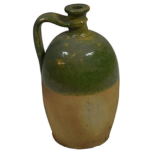 19th-C. French Glazed Jug