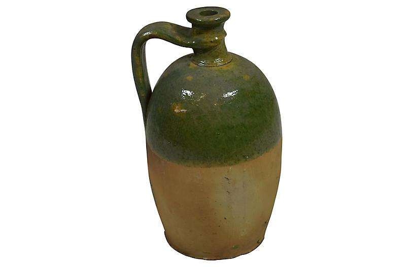 19th-C. French Glazed Jug