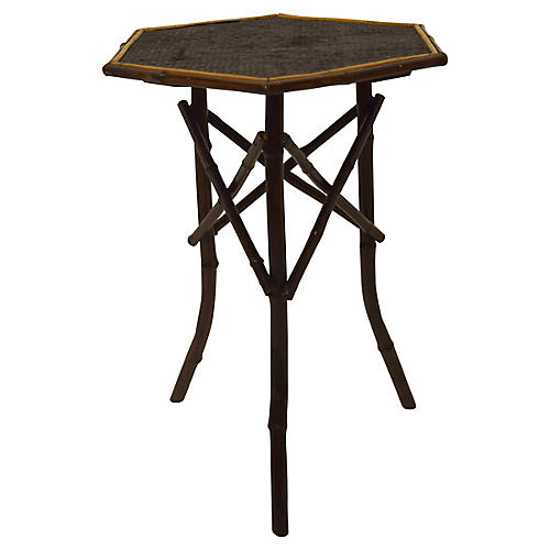 19th-C. English Bamboo Table