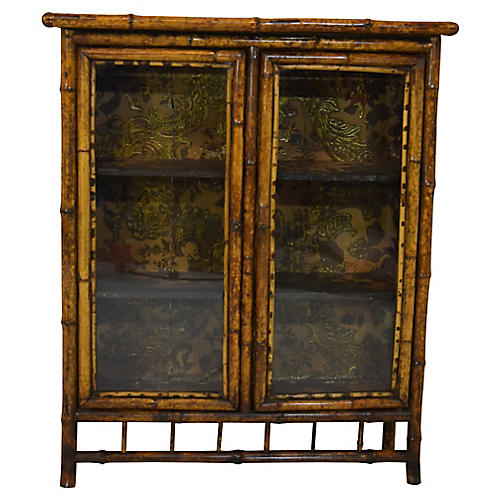 19th-C. Bamboo Bookcase
