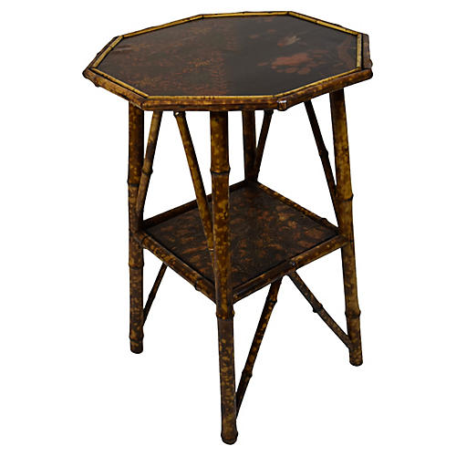 19th-C. Octagonal Bamboo Table