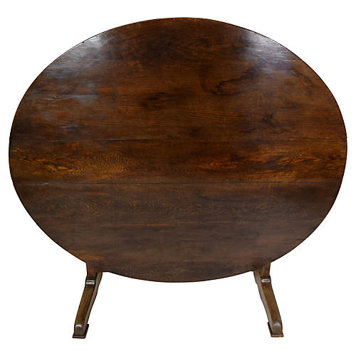 19th-C. Large French Wine Tasting Table