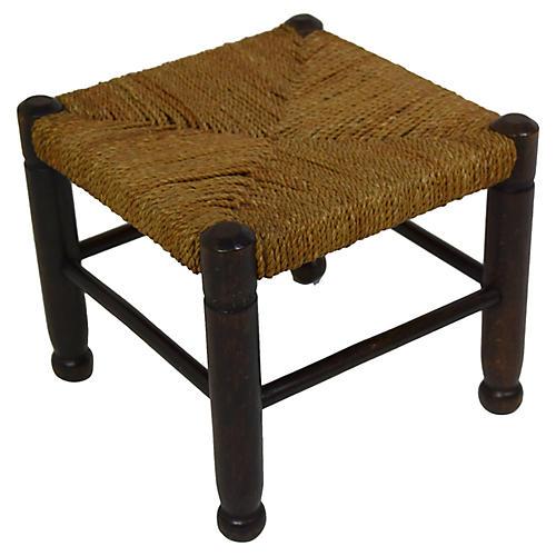 Late 19th-Century English Footstool