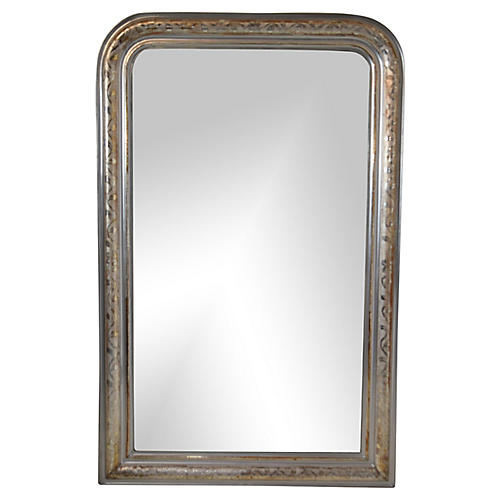 19th-C. Louis Philippe Silver Mirror