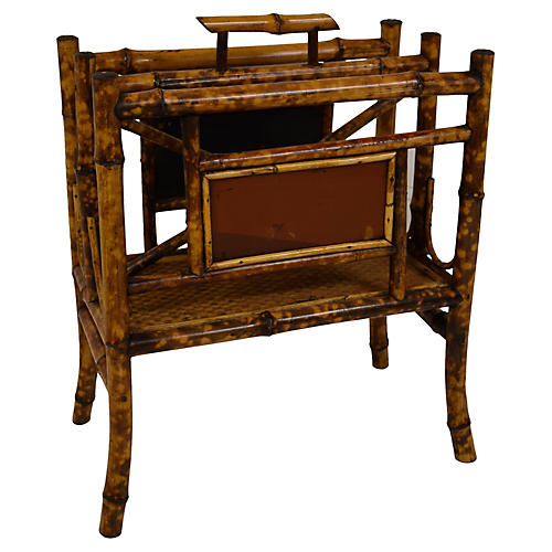 19th-Century Bamboo Magazine Rack