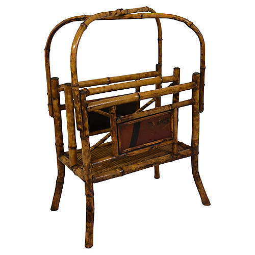 19th-C Bamboo Magazine Rack