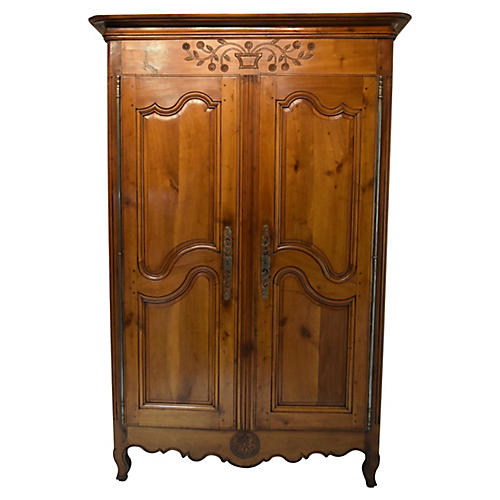 Early 19th-Century French Cherry Armoire