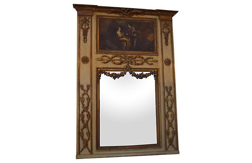 Mid 19th-Century French Trumeau Mirror
