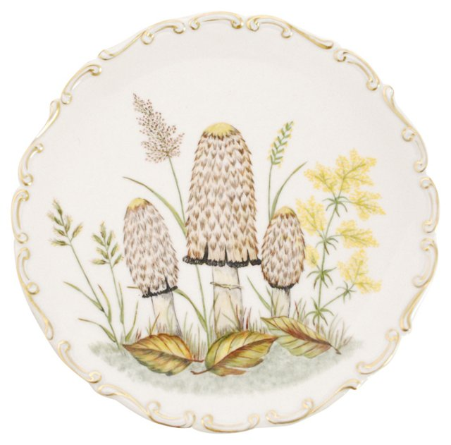 Porcelain Mushroom Plate