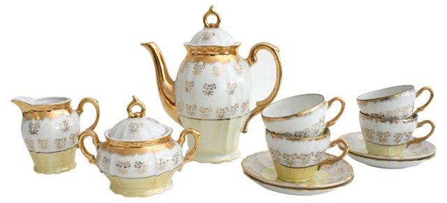 Porcelain Tea Set, Svc. for 4