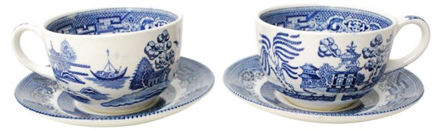 Churchill Cups & Saucers, Pair