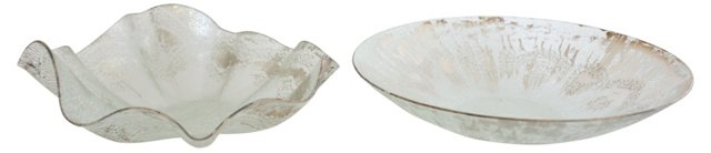 Thorpe Style Serving Bowls, Pair
