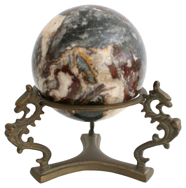Stone Sphere on Stand