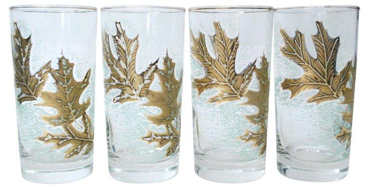 Libby Leaf Glasses, Set of 4