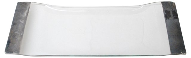 Silver Banded Tray