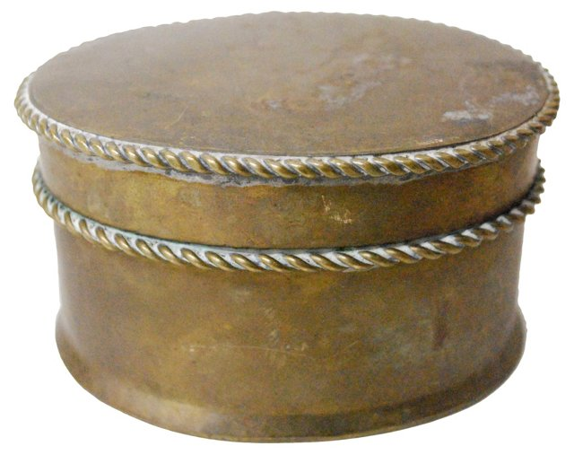 Oval  Brass Box