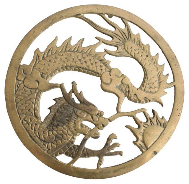 Brass Dragon Trivet