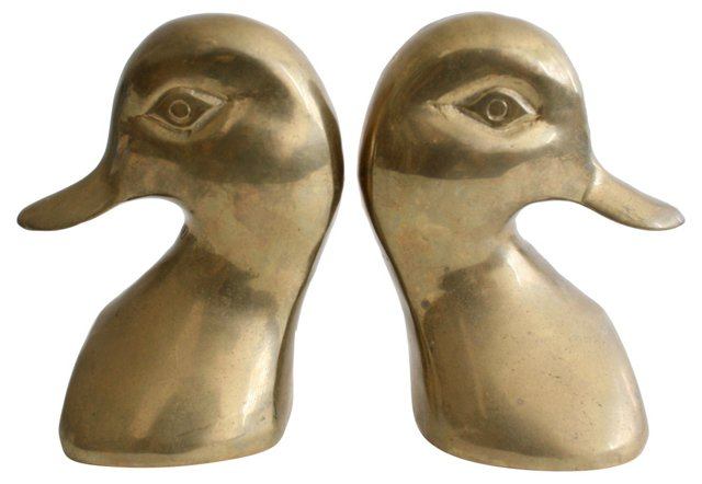 Solid  Brass Bookends