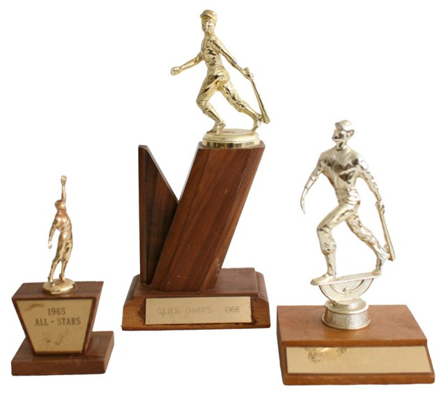 1960s Baseball Trophies, Set of 3