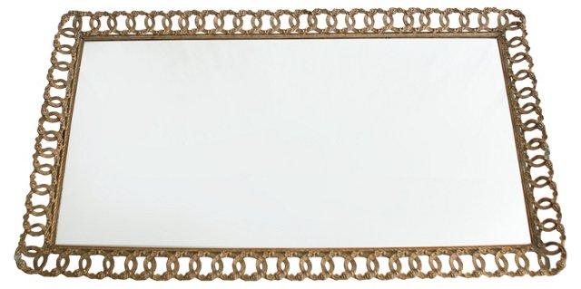 1950s Mirrored Vanity    Tray