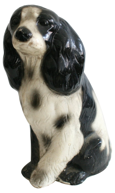 Large Chalkware Spaniel