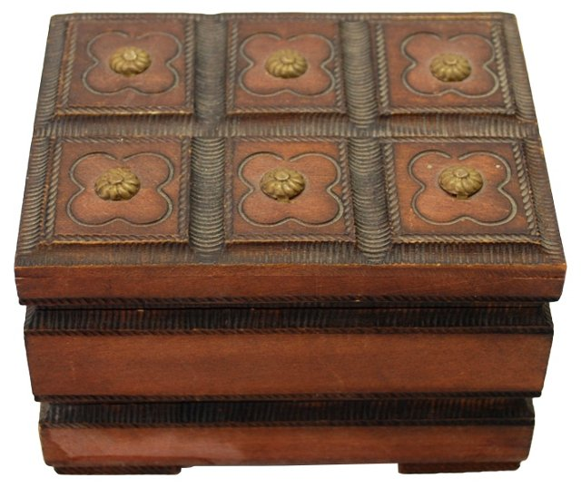 Wooden Box w/ Double Opening