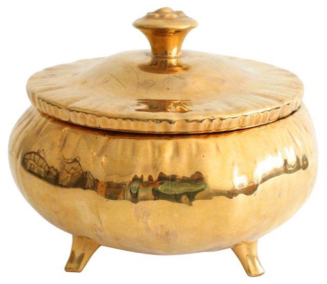 Gold Porcelain Box